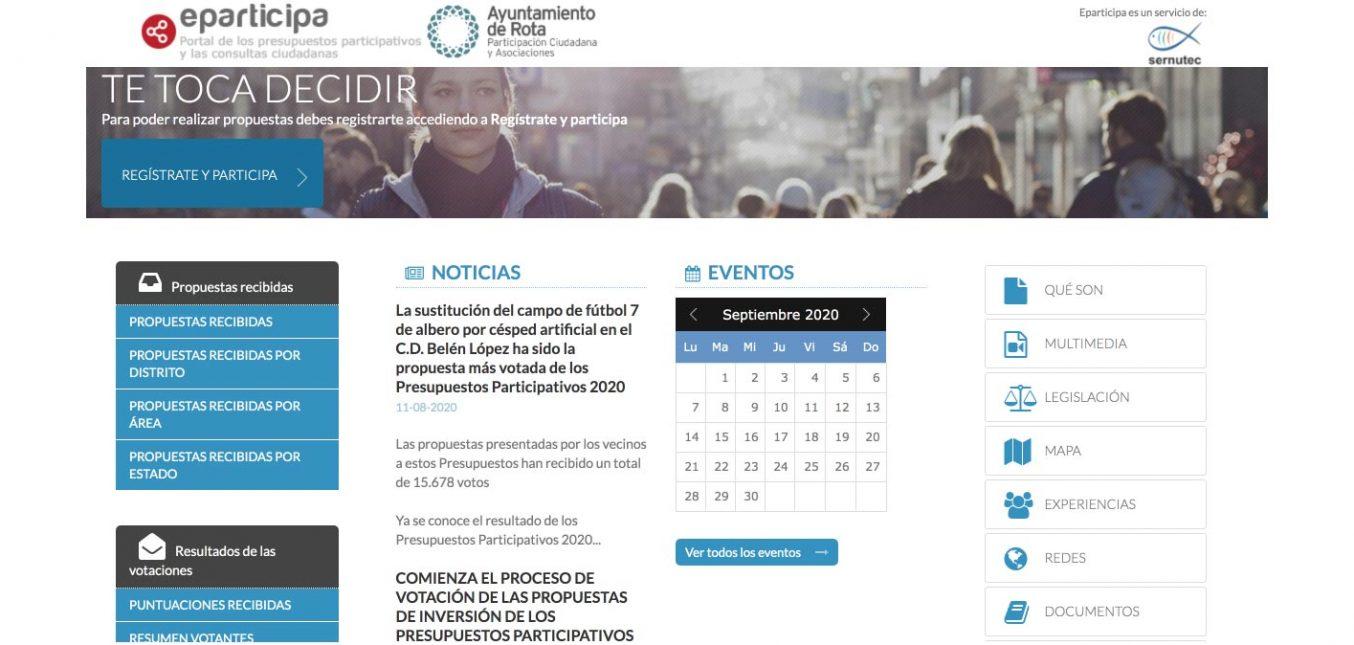 El Ayuntamiento de Rota finaliza sus presupuestos participativos con éxito